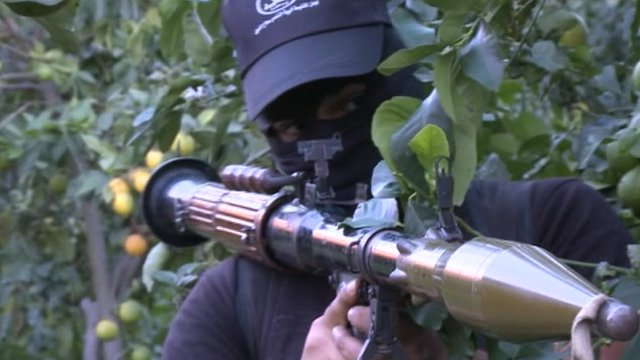Militants training in Gaza