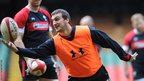 Wales captain Sam Warburton and his team-mates take part in a final training session ahead of Saturday's Test against Australia at the Millennium Stadium.