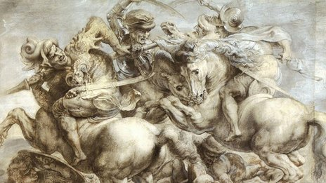 Peter Paul Rubens' drawing of the Battle of Anghiari