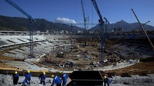 The Maracana Stadium undergoes reconstruction