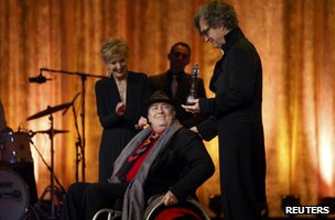Bernardo Bertolucci receives a lifetime achievement prize at the 2012 European Film Awards