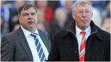 West Ham manager Sam Allardyce and Manchester United manager Sir Alex Ferguson