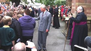 The Prince of Wales in St Asaph in July 2012