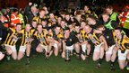 Crossmaglen celebrate a third straight Ulster senior club football title