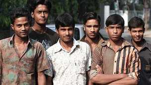 Group of young Bangladeshi men