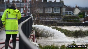 Water being pumped into River Derwent