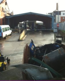 Newport bus depot after the fire
