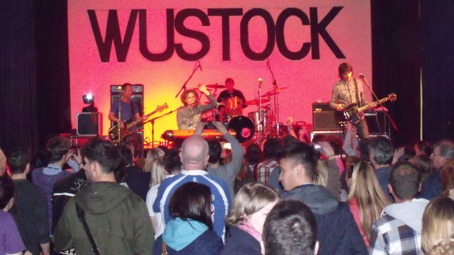Toploader at Wustock in the Christopher Whitehead Language College, Worcester