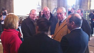 Prince Charles at St Asaph cathedral