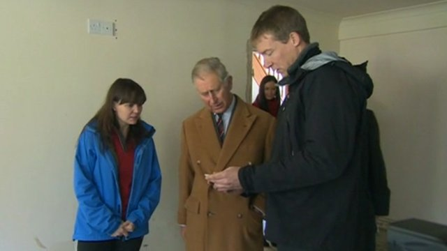 Prince Charles visiting Isla and Martin Jones