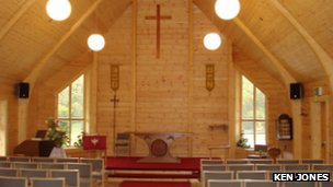 interior of the new St Michael's and All Angels church