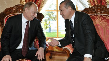 Russian President Vladimir Putin with Turkish Prime Minister Recep Tayyip Erdogan in Istanbul on 3/12/12
