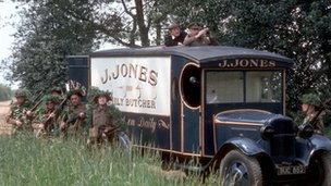 Dad&#039;s Army butcher&#039;s van