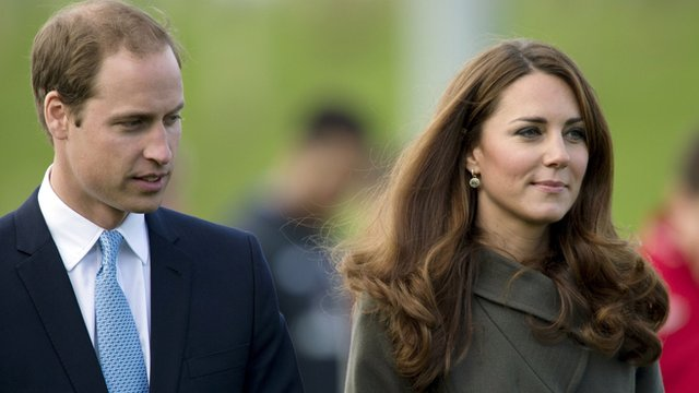 Duke and Duchess of Cambridge on 9 October 2012