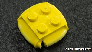 The squashed Lego brick used in the Open University experiment
