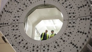 HRH The Duke of York at the National Renewable Energy Centre, Narec, in Northumberland