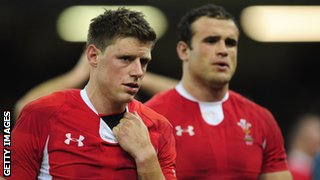 Wales fly-half Rhys Priestland looks disconsolate after the defeat by Australia