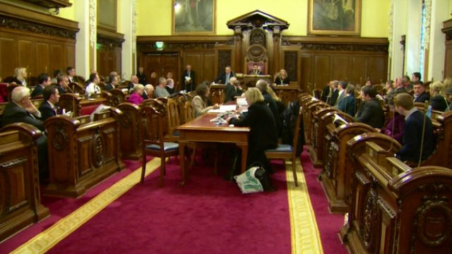 Belfast City Council passed the vote to change the flag policy by 29 votes to 21 