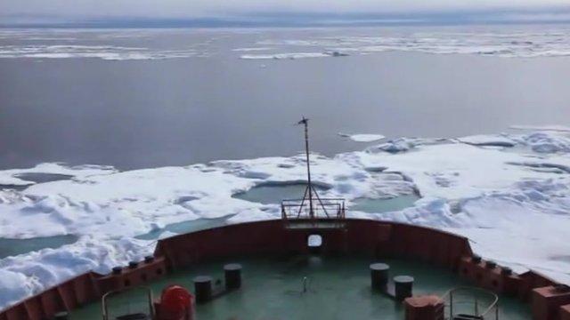Tanker in Arctic ice