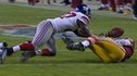 Washington Redskins' quarterback Robert Griffin III fumbles
