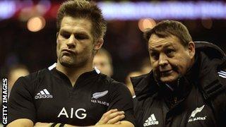 New Zealand captain Richie McCaw and coach Steve Hansen