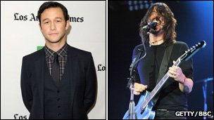 Actor Gordon-Levitt and Foo Fighters rocker Dave Grohl