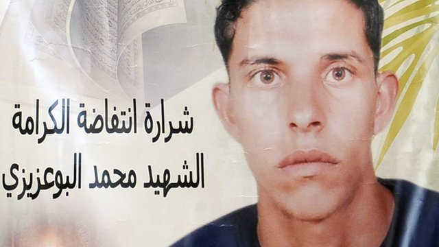 Family mourn 'martyr' as Tunisia's revolution gains pace.