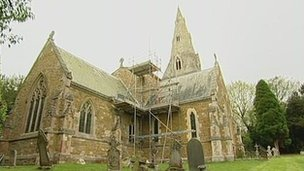 Lead was stolen from a church in Little Dalby in Leicestershire