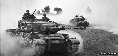 Indian tanks during the Indo-Pakistan War 