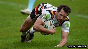 Bradford Bulls in action against London Broncos