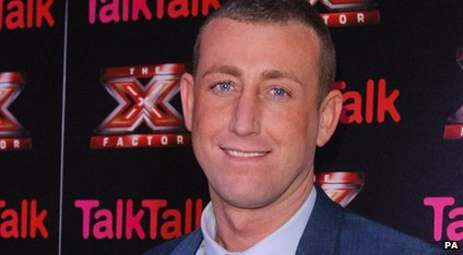 Christopher Maloney at an X Factor press event.