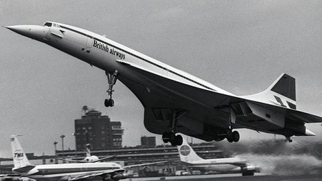 British Airways Concorde makes its inaugural commercial flight from Heathrow on 26 January 1976