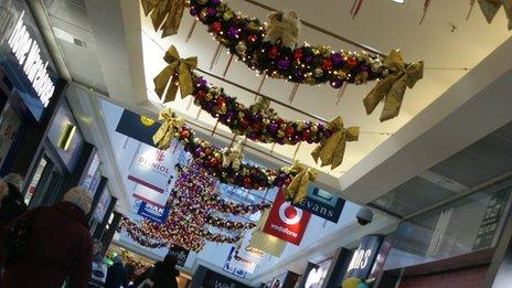 Christmas trimmings in Bangor