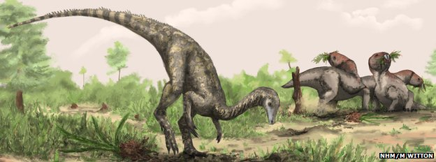 Artist&#039;s conception of Nyasasaurus parringtoni
