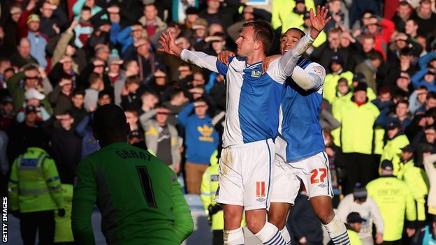 Blackburn Rovers striker Jordan Rhodes