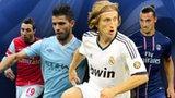Santi Cazorla, Sergio Aguero, Luka Modric, Zlatan Ibrahimovic