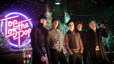 The Kaiser Chiefs performing on Top of the Pops