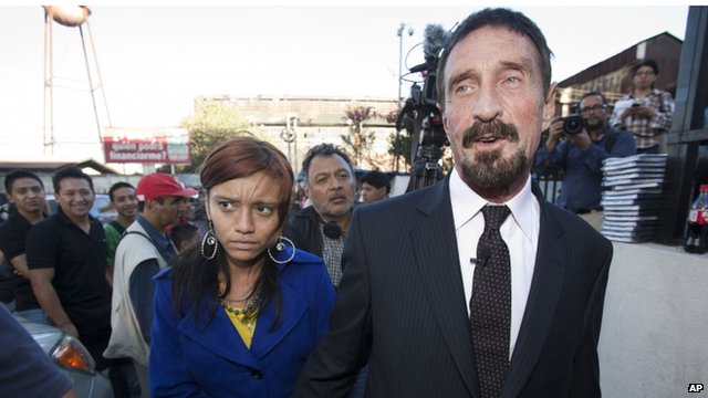 Software company founder John McAfee in Guatemala