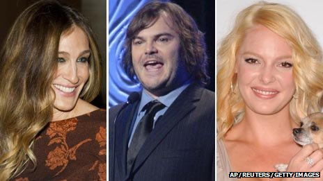 Sarah Jessica Parker, Jack Black and Katherine Heigl