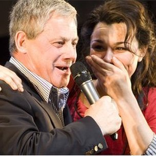 Cameron Mackintosh and Samantha Barks