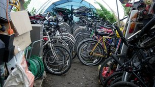 Bicycles found in Pennington polytunnel