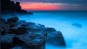 Planet Earths geology - a coastal, rocky scene