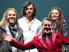 Tim Minchin, Ben Forster, Melanie Chisholm and Chris Moyles