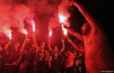 Supporters of Brazil&quot;s Corinthians cheer their team just before their departure to the FIFA Club World Cup in Japan, at the Cumbica International Airport in Sao Paulo, Brazil on December 3, 2012. The FIFA Club World Cup will start on December 6.