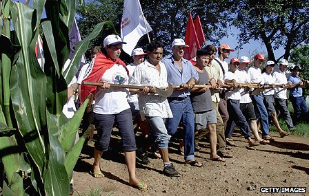 Landless protesters
