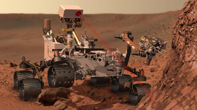 The Mars rover, Curiosity - artist&#039;s rendering 