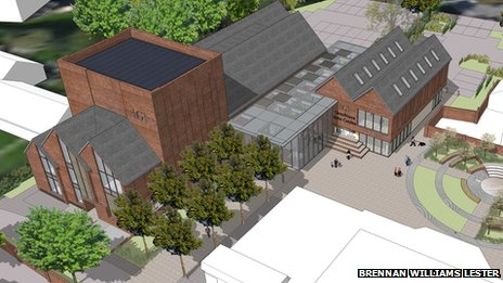 Artist&#039;s impression of Greyfriars Arts Centre