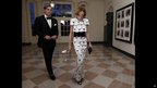 Anna Wintour and partner Shelby Bryan arrive at the Booksellers area of the White House in Washington