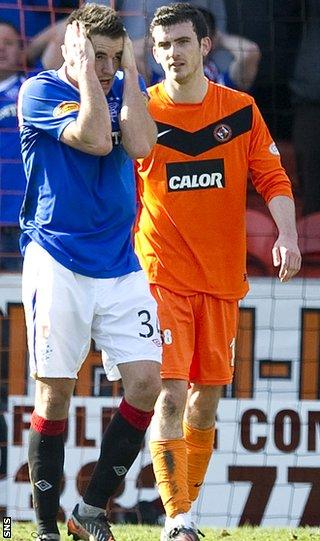 Dundee United against Rangers at Tannadice