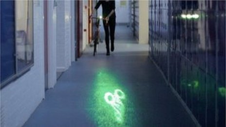 Bike light in corridor
